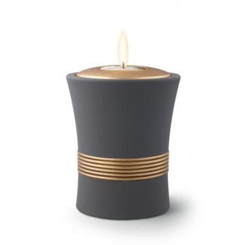 Ceramic Candle Holder Keepsake Urn (Luxor Design) – GRAPHITE