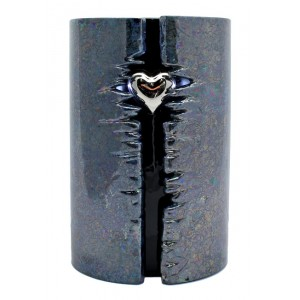 Wrapped Heart LED Urn (Graphite Black)