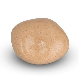 Cremation Ashes Keepsake / Miniature Urn – Huggable Cuddle Stone (Sand High Shine)