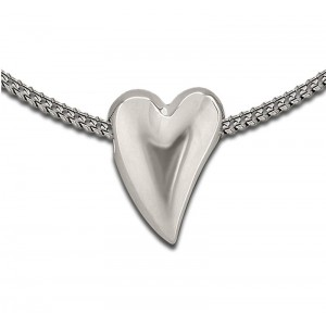 Sterling Silver Abstract Heart Pendant