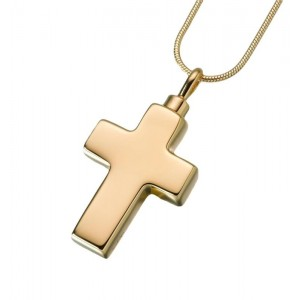 Large Gold Vermeil Cross Pendant