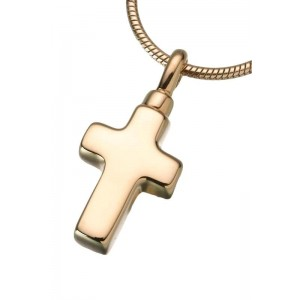 Small Gold Vermeil Cross Pendant