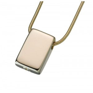 Gold Vermeil Slide Rectangle Pendant