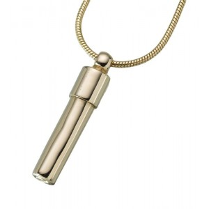 Gold Vermeil Double Chamber Cylinder Pendant