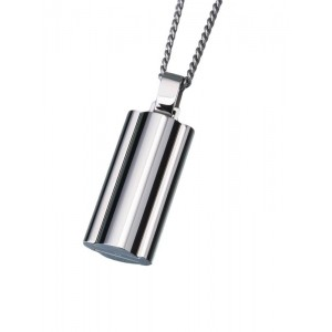 Stainless Steel Narrow Flask Pendant