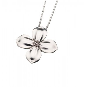 Sterling Silver Dogwood Blossom Pendant