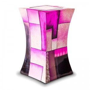 Glass Fibre Urn (Lantern Design in Multicolour Pink)