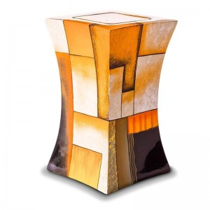 Glass Fibre Urn (Lantern Design in Multicolour Yellow)