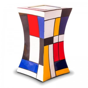 Glass Fibre Urn (Lantern Design in Multicolour)
