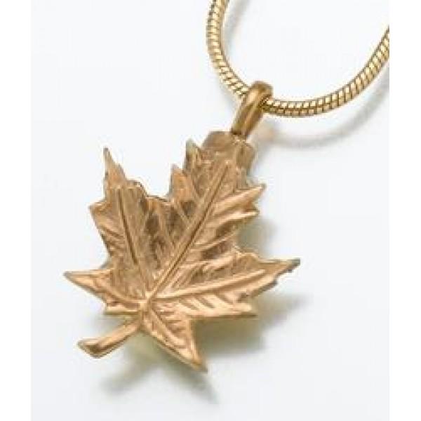 gold vermeil maple leaf pendant