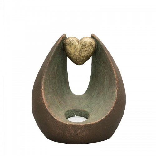Ceramic Statue Urn - Eternal Inspiration Gold Heart with Tealight Holder - Bespoke Order
