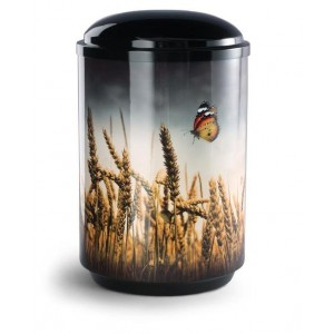 Steel Urn (Wheat Field with Butterfly)