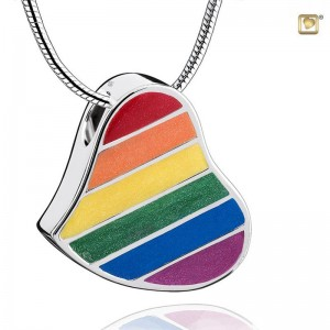 Sterling Silver Rainbow / Pride Heart