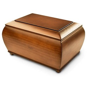 High Quality Spanish Wooden Urn - FREE Engraving when you buy this product