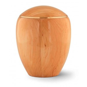 Wooden Urn (Round Top in Natural Wood)