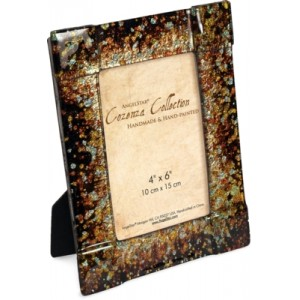 Golden Brown Glass Photo Frame 22.9cms