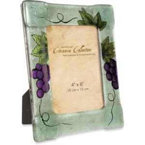 Vineyard Grape Glass Photo Frame 22.9cms