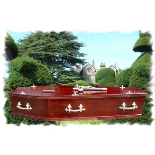 Traditional Mahogany Coffin - Top Quality, Low Prices