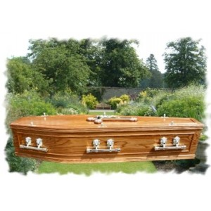 Wreath Mould Lid & Side Panel Coffin. Finest Quality Coffins