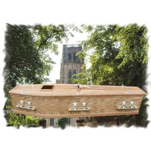 Double Wreath Mould Coffin – Quality Hand-made Low Cost Coffins