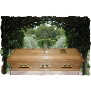 Solid Oak Casket. Hand-crafted Quality. Call for price