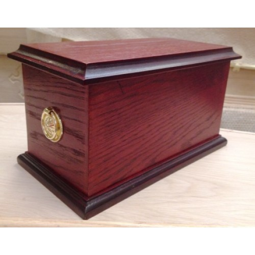 Quality Wooden Cremation Ashes Casket. (DKO)