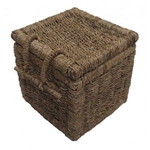 Seagrass Cube Cremation Ashes Casket. Low Online Urn Prices