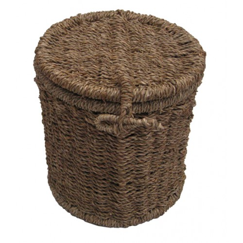 Seagrass Cylinder Cremation Ashes Casket. Natural Values