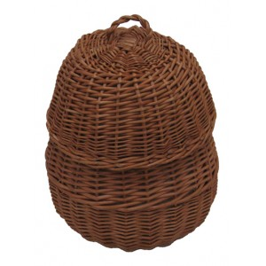 Wicker / Willow Beehive Cremation Ashes Casket. The Natural Choice