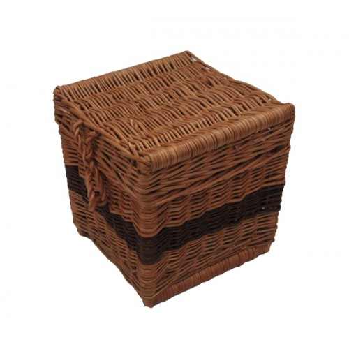 Wicker / Willow Cube Cremation Ashes Casket. Eco Friendly Alternative