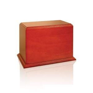 The Avantgarde Solid Mahogany Cremation Ashes Casket - FREE ENGRAVING