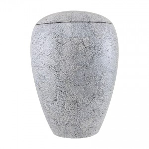 Crackled Eggshell Urn
