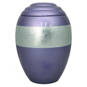Silver Lilac Band Urn