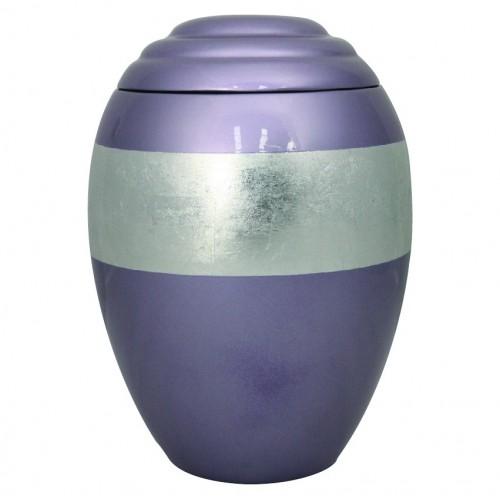Silver Lilac Band Urn