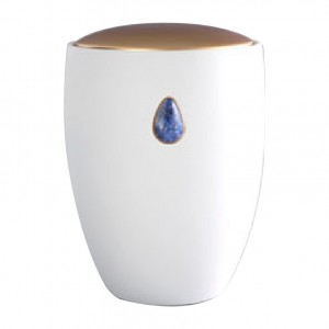 Sodalite Blue Gem Ceramic Urn