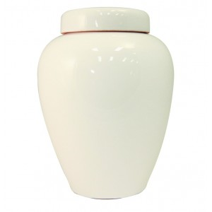 White Glazed Urn