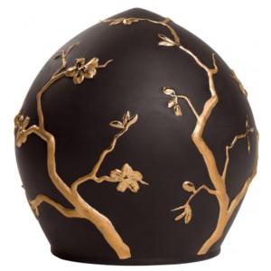 Eden Ialu Porcelain Cremation Ashes Urn (Black)