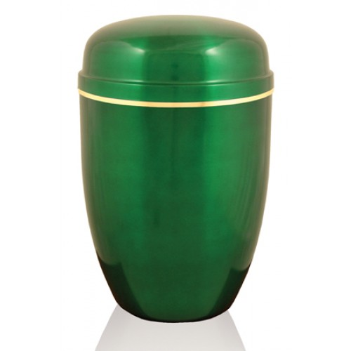 The Aintree Green Steel Urn - FREE ENGRAVING when you order this product.