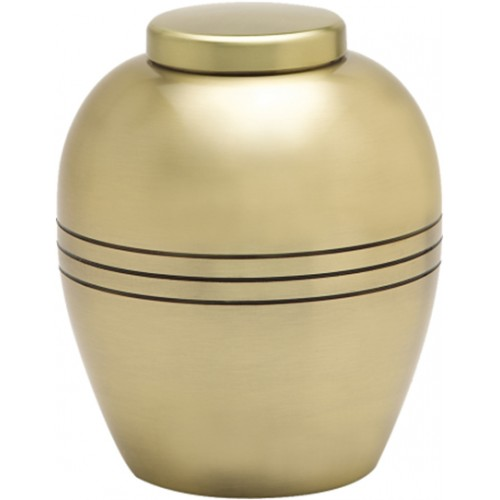 Gold Pewter Urn
