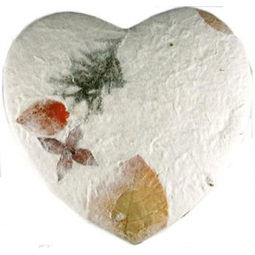 Biodegradable - FLORAL HEART Cremation Ashes Urn