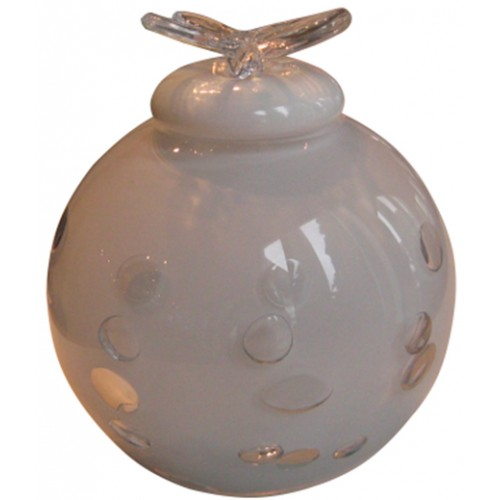 Infant Dali Glass Urn (White)