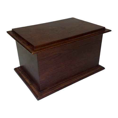 Antique Solid Mahogany Cremation Ashes Casket - **LIMITED OFFER** FREE ENGRAVING