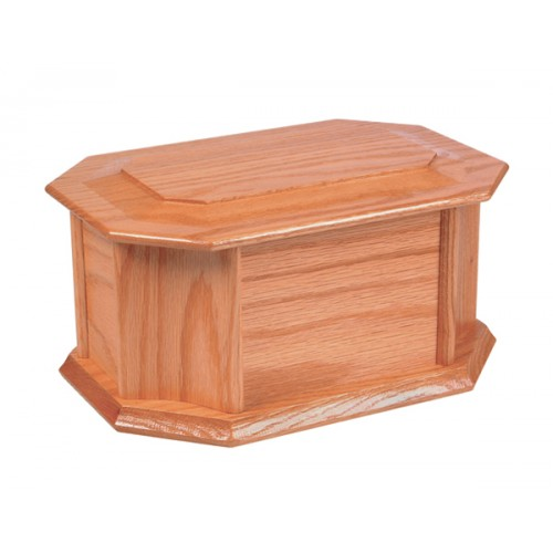 Oswald Wooden Cremation Ashes Casket - FREE Engraving when you buy this product.