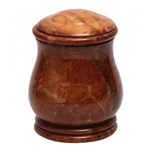 Potiche Brown Alabaster Urn