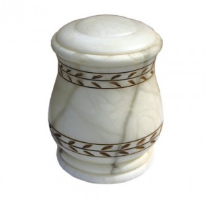 Potiche Large White Alabaster Urn