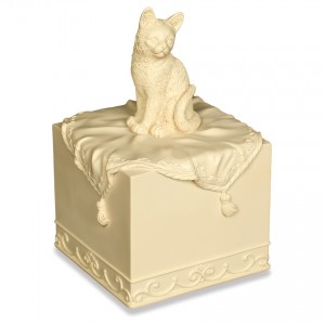 Weatherproof (Outdoor / Indoor Use) - FAITHFUL FRIEND Pet Cremation Ashes Keepsake / Urn