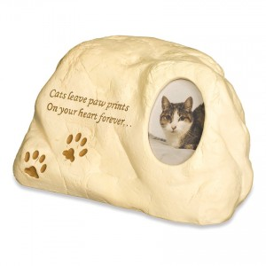 Weatherproof (Outdoor / Indoor Use) - Cat (Rock Design) Pet Cremation Ashes Urn