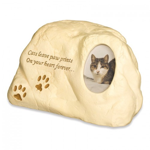 Weatherproof (Outdoor / Indoor Use) - Cat (Rock Design) Pet Cremation Ashes Urn