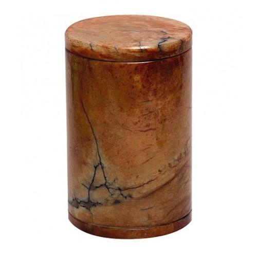 Saturina Large Brown Alabaster Urn