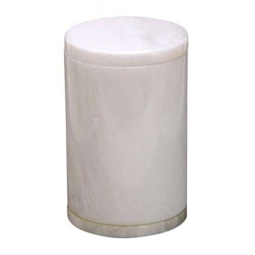 Saturina Large White Natural Alabaster Urn